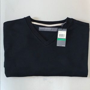 Short-sleeve V-neck Sweater